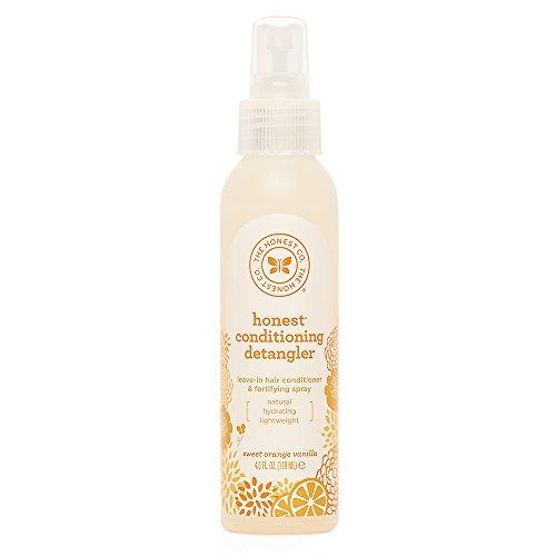 The Honest Company Sweet Orange Vanilla Conditioning Detangler Spray | Lightweight Leave-in Conditioner & Fortifying Spray | Paraben & Synthetic Fragrance Free | Plant-Based | Vegan | 4 fl. oz.