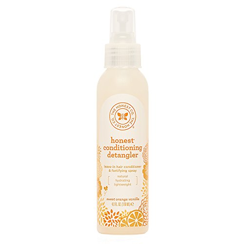 The Honest Company Sweet Orange Vanilla Conditioning Detangler Spray | Lightweight Leave-in Conditioner & Fortifying Spray | Paraben & Synthetic Fragrance Free | Plant-Based | Vegan | 4 fl. oz. - Light Detangler Spray