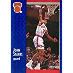 350c45f1 John Starks Basketball Card (New York Knicks) 1991 Fleer #330. Autograph  Warehouse