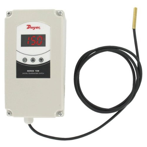 Temperature Controller, 90 to 220VAC Input Voltage, Switch Function: Dual SPDT by Dwyer