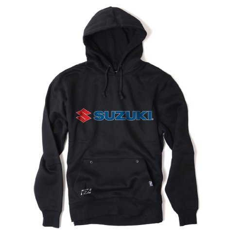 Factory Effex 15-88400 'Suzuki' Hooded Pull-over Sweatshirt (Black, Medium)