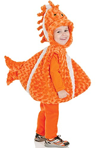 Underwraps Baby's Big Mouth Clown Fish Belly-Babies, Orange/White, Medium