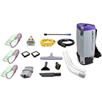 Fully Loaded Proteam Super Coach Pro 10 QT Commercial Backpack Vacuum Cleaner