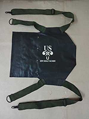 WWII US Army D-Day Assault M5 Gas Mask Rubberized Carry Bag - Reproduction by warreplica