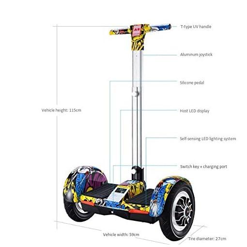 Hoverboard Electrique Marcher A8 Intelligent Balance des voitures, deux roues motrices intelligente somatosensoriel Équilibre Voiture, Adulte courte distance Scooter électrique Twist voiture Hover Sco