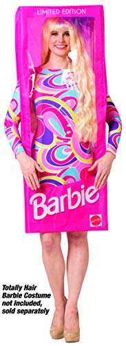 Barbie Costumes For Adults (Rasta Imposta Barbie Doll Box Costume, Women's Adult, One Size)