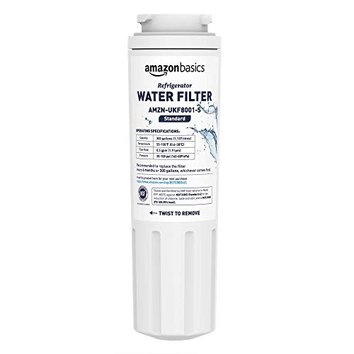 AmazonBasics Replacement Maytag UKF8001 Refrigerator Water Filter Cartridge - Standard Filtration