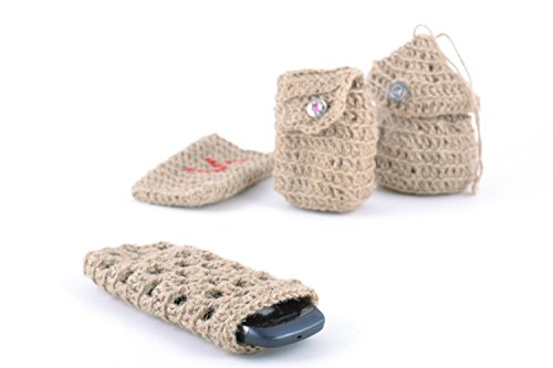 Handmade Small Durable Mobile Phone Cover Woven Of Twine Unisex