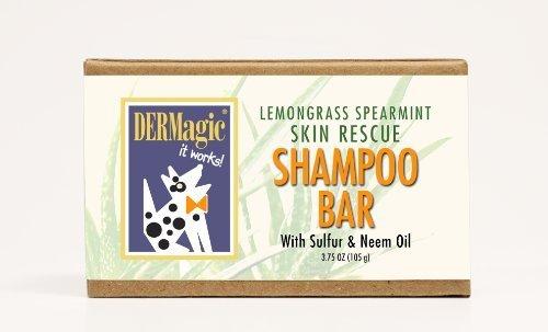 DERMagic Skin Rescue Shampoo Bar, Lemongrass and Spearmint, 99% Organic, 3.75 oz., My Pet Supplies