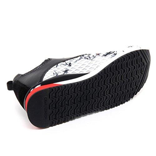 Fiori nero Crime Donna Woman Scarpa Shoe B6594 Sneaker Bianco London YvE00qw