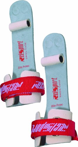 Reisport Men's Protec Elite Velcro Hook & Loop Ring Grips, Gymnastics