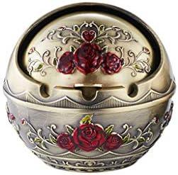 灰皿 , ヨーロッパのレトロ灰皿スタイリッシュな人格クリエイティブ灰皿家庭用灰皿(サイズ:8.2 * 7.5CM) (色 : Bronze, サイズ : 8.20*7.50CM)