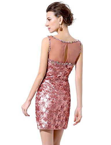 Sarahbridal Damen Minikleid Abendkleider Kurz Paillette ...