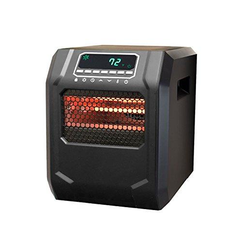 Lifesmart ZCHT1001US Zone Series 6 Element Infrared Heater, Black Infrared Lifesmart