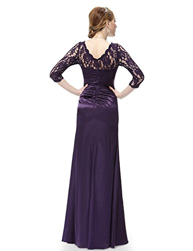 Ever Pretty Elegant Lace Long Sleeve Formal Floor Length Evening Dress 09882