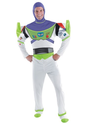 Disguise Men's Disney Pixar Toy Story and Beyond Buzz Lightyear Deluxe Costume, White/Green/Red/Purple, XX-Large]()