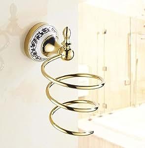 GL&G Secador de pelo europeo Estante colgante moderno Accesorios de baño de gama alta Diseño de