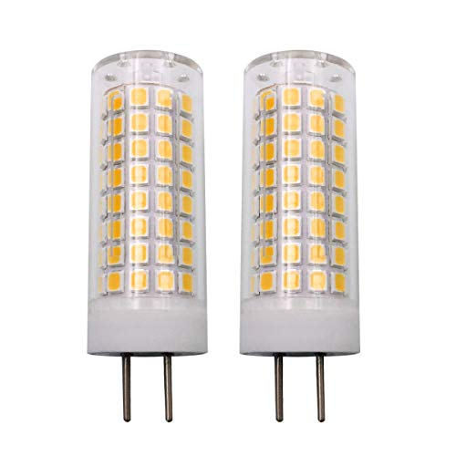 b 7W AC 110V/120V/130V 700LM GY6.35 Bi-pin Base Warm White 3000K Dimmable G6.35/GY6.35 Base T4 JC Type 65W Halogen Bulbs Equivalent 2-Pack ()
