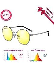 KLIM™ Protect - Gafas de Nueva generación - Protege los Ojos Frente a la dañina luz Azul de Las Pantallas - Anti Fatiga Ocular - Anti UV - para PC, Smartphone, TV, Tablet, MONITORES