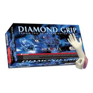 Microflex MF-300-M Diamond Grip Exam Gloves, PF Latex, Textured Fingers, Medium, 100 per Box, 10 Box per Case (Pack of 1000) by Microflex