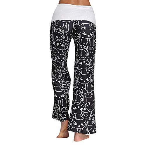 Colore Dimensione FuweiEncore S Casual Pantaloni Nero Bianca Stampati Eleganti Donna Larghi wPgpqP8xn