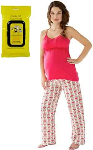 e03f80089007b Belabumbum Bundle 2Item Padma Maternity Nursing Cami Pant PJ Set XL +  Breastwipes