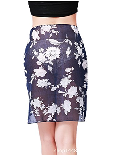 9c8e482da1 SUZALA Women Soft Wrap Beach Swimsuit Short Cover up Sarong Pareo Swimwear  Skirt
