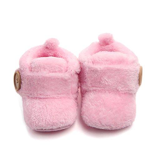 Baby Winter Schuhe,BeautyTop schöne Kleinkind erste Wanderer Baby warme Schuhe runde Kappe Wohnungen weichen Schuhe Rosa