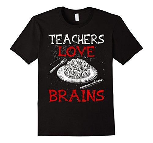 Mens Teachers Love Brains Tshirt Funny Halloween teacher Costume Large (Teacher Halloween Costumes)