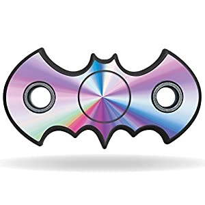 MightySkins Vinyl Decal Skin For Bat Shaped Fidget Spinner – Rainbow Zoom | Protective Sticker Wrap For Your Fidget toy | Easy To Apply Cover at Gotham City Store