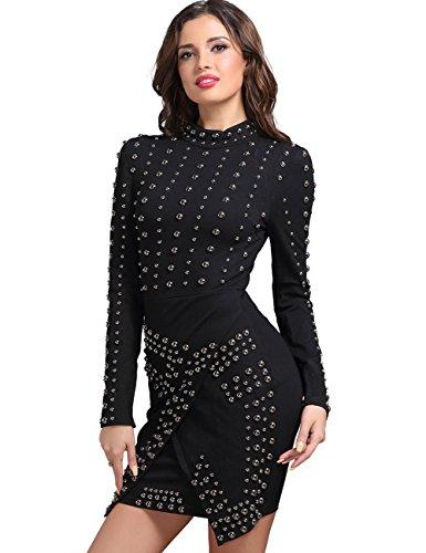 Adyce DamenBandageKleid schwarze frauen peplum gelegenheits kleid ...