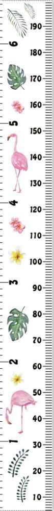 CiMi Messlatte für Kinder messen zu können Wand Höhe Diagramm Leinwand Kinderzimmer Hängende Wachstumskarte Wachstumsmesser Messleiste in Weiß 20cm x 200cm