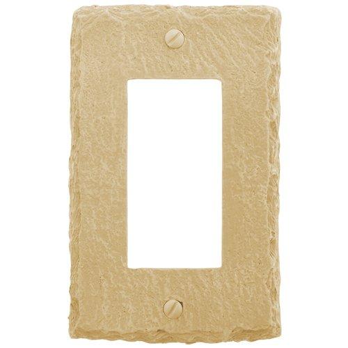 - Amerelle 8345RA Faux Slate Single Rocker Wallplate, Almond