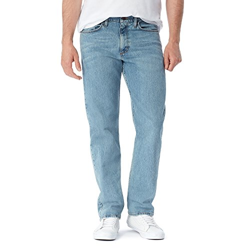 Wrangler Authentics Men's Big & Tall Big and Tall Classic Relaxed Fit Jean, Bleached Denim Flex ()
