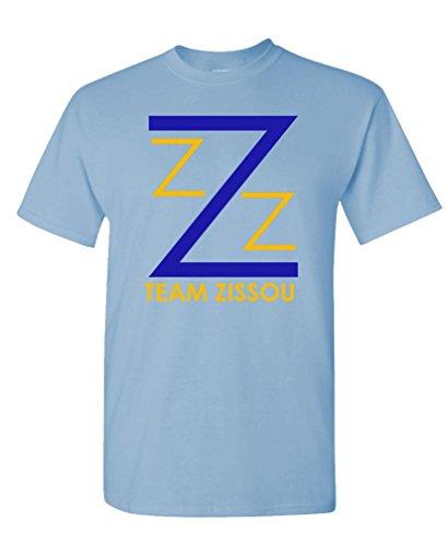 Team Zissou - Intern Aquatic Movie Comedy - Mens Cotton T-Shirt, L, Lt Blue ()