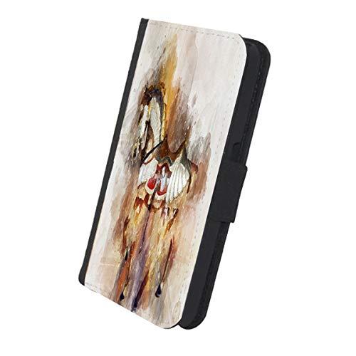 Renaissance Fair Horse Watercolor - Samsung Galaxy S5 Leather Wallet Protective Cellphone Cover Case