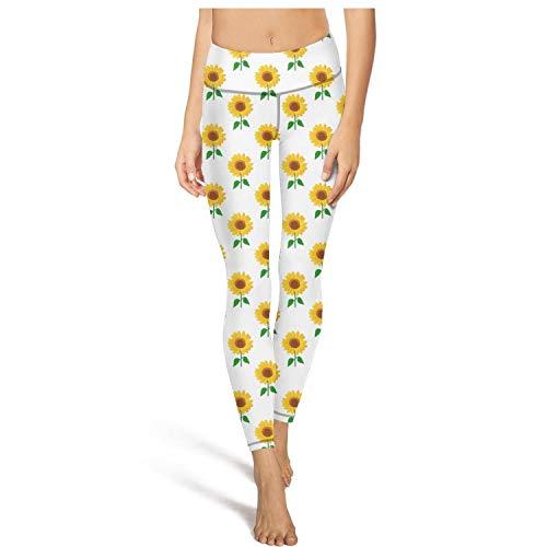 Womens Capris Leggings Cute Small Sunflower Dots Yoga Pants Funky Athletic Leggings
