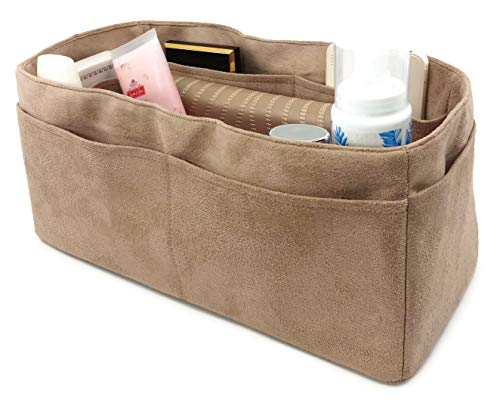 - Purse Organizer insert Medium fits Hermes Birkin 30 Handbag Velvet Very Soft lightweight Sturdy GiftsforWomen many pockets Sturdy (Beige M)