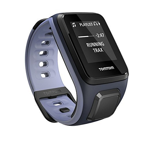 TomTom Spark Music, GPS Fitness Watch + 3GB Music Storage (Small, Sky Captain/Purple Haze)