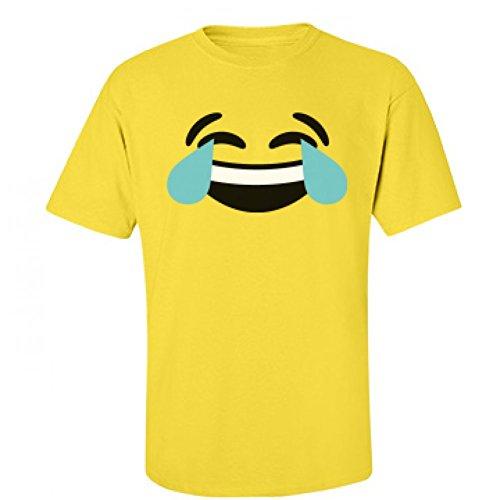 [Funny Laughing Emoji Costume: Unisex Fruit of the Loom T-Shirt] (Heavyweights Halloween Costume)