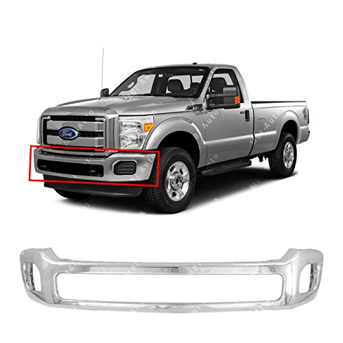 MBI AUTO - Chrome, Steel Front Bumper Face Bar for 2011-2016 Ford F250 F350 F450 Super Duty W/Out Flares 11-16, FO1002416