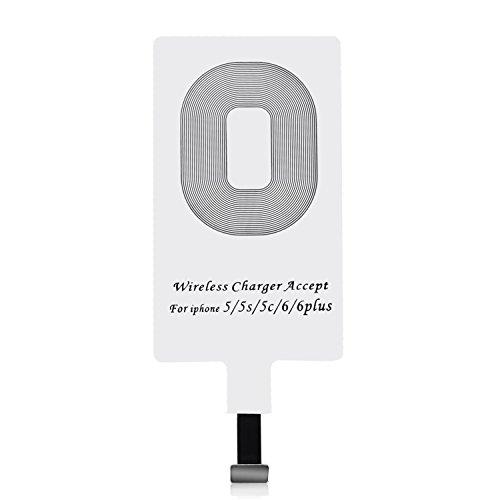 CHOETECH Qi Receptor para iPhone, Qi Receptor Cargador Inalambrico Ultra Delgado Receptor Inalámbrico con Chip de Módulo...