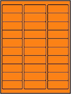 3,000 Label Outfitters® 2-5/8 x 1 Neon Orange LASER ONLY Address Labels, use Avery® 5160 Template, 100 Sheets