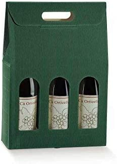 Subito Disponibile Caja para 3 Botellas de Vino Onda Verde: Amazon.es: Hogar