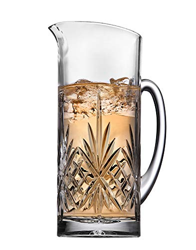 Dublin Collection Beverage Pitcher Carafe, Cocktail Bar Mixing Glass - 34oz ()