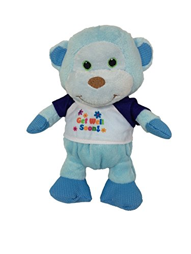 Reds Toy Shop, Get Well Soon, Feel Better Stuffed Animal - Monkey, 9 Inch (Get Well Flowers For Kids)