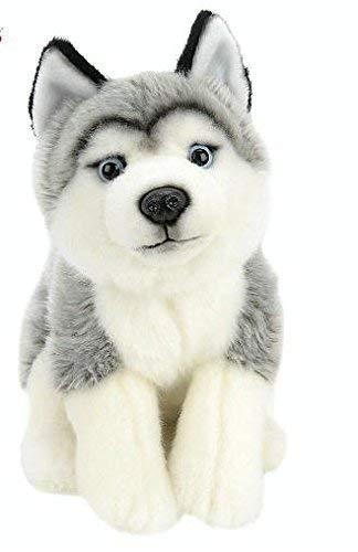 Amazon Com Toys R Us Animal Alley 10 Inch Stuffed Husky Gray And