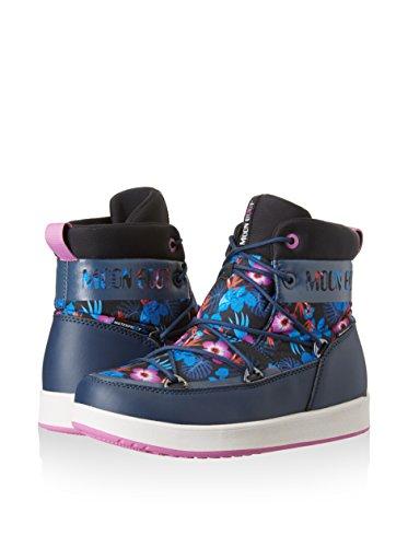 Moon De Lacets Boot Femme Pour À Chaussures rosa Blu Ville Navy TqwTxrU