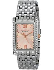 Caravelle New York by Bulova Womens 45L140 Swarovski Crystal-Accented Stainless Steel Watch