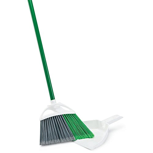 - Libman Commercial 206 Precision Angle Broom with Dust Pan, Steel Handle, 11